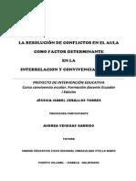 Proyecto de Intervención Resolución de Conflictos en El Aula