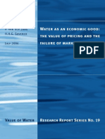 Water as an economic good
