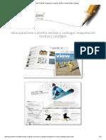 •• Ideas Creativas Maquetacion Maquetar Diseñar Revistas Folletos Catalogos