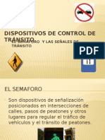 Dispositivos de control del transito