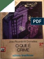 O que é crime