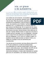 La Anorexia - Articulo de Opinion