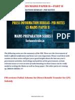 --- Press Information Bureau- Pib Notes