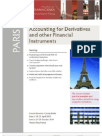 Accounting for Derivatives Financial Training Course - Paris