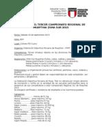 Bases Regional Sur 2015