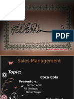 Sales Presentation On Coca Cola Pakistan
