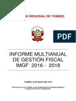 Informe Multuanual de Gestion Fiscal- Regional