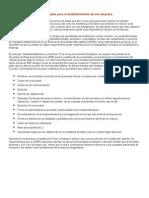 Trámites y Procedimientos Legales Para El Establecimiento de Una Empresa