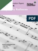 Preparatory Rudiments exam 2014
