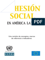 Cohesión Social en America Latina