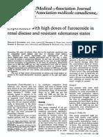High Doses of Furosemide