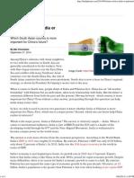 _ the Diplomat China Choice India or Pakistan