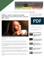 Efectos Consumo Cafe Cancer Colon