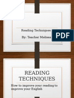 Reading Techniques