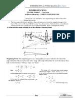 Ray Optics Class Notes