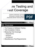 Software Testing and Test Coverage