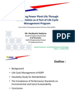 Sustaining Power Plant Life Through Rehabilitation as a Part of Life Cycle Management Program r02