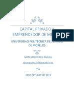Capital Privado y Emprendedor de Mexico 7A Ximena Moreno