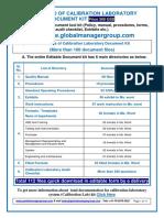 ISO 17025 Calibration Laboratory Documents