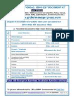 OHSAS 18001 Certification Documentation