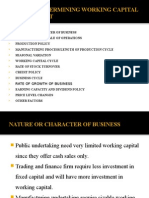 Factors Affect factors affecting working capitaling Working Capital