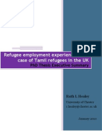 Refugee Employment Experiences the Case of Tamil Refugees in the UK