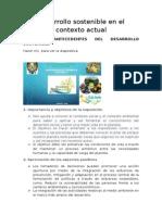 Desarrollo Sostenible en El Contexto Actual