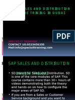 Sap Sales and Distribution Online Trining