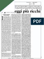 I parcheggi più ricchi (MilanoFinanza, 23-01-2010)