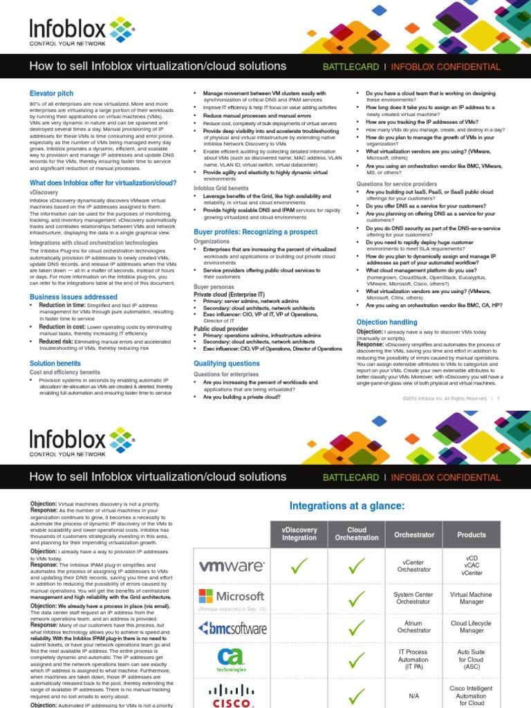 3 Battlecard Virtual Cloud | Cloud Computing | Virtual Machine