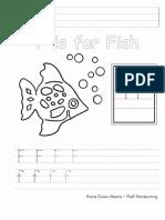 Ff PreK Handwriting