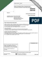 IGCSE Maths Paper 2
