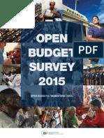 Open Budget Survey 2015