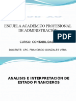 Contabilidad i - Sesion 14 y 15 - Analisis e Interpretacion de Estados Financieros