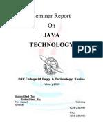 Java Seminar Report