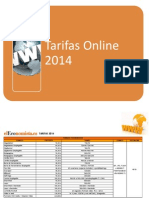 Tarifas Web 2014