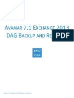 Avamar 7.1 Exchange 2013 DAG Backup and Recovery