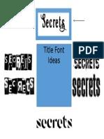 Media Title Ideas