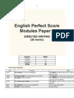 English Perfect Score Modules Paper 1