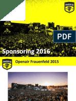 Openair Frauenfeld | Sponsoring 2016