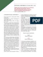 Decreto Del Presidente Della Repubblica 22 Ottobre