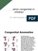 Congenital Malformation in Children 2013