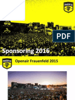 Sponsoring 2016 | Openair Frauenfeld