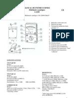 Manual de Instrucciones Multímetro Analógico 6-1250
