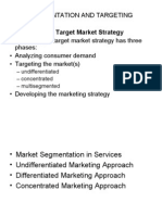 Segmenting and Targeting Customers Mba III