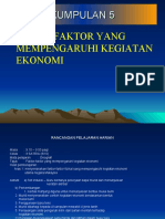 Modul P&P Geografi Tingkatan 3 (PMR)  Faktor2 Yang Mempengaruhi Kegiatan Ekonomi