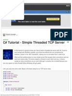 C# Tutorial - Simple Threaded TCP Server - Tech.pro