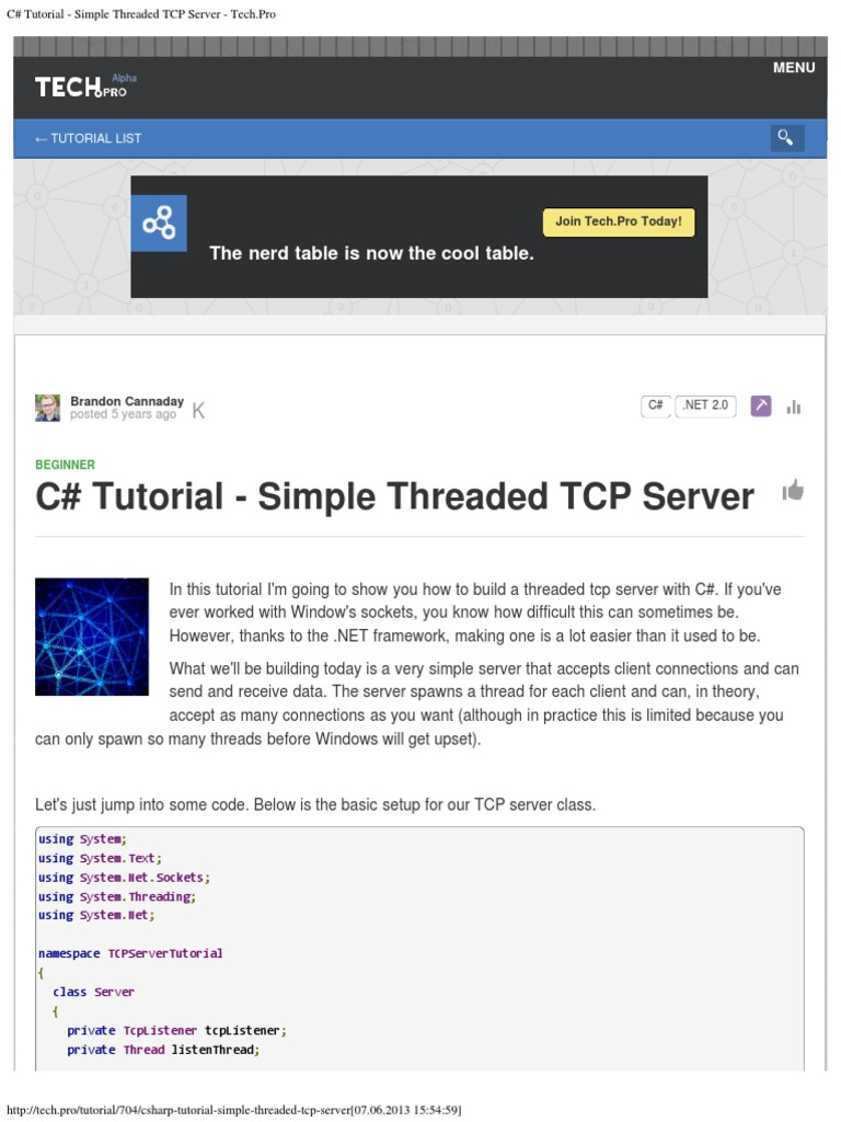 C tutorial simple threaded tcp server techo port c tutorial simple threaded tcp server techo port computer networking transmission control protocol baditri Gallery