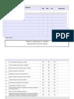 Check-list Ergonomica de Posto de Trabalho