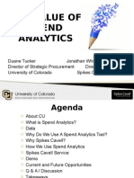 The Value of Spend Analytics Webinar 11-19-2014
